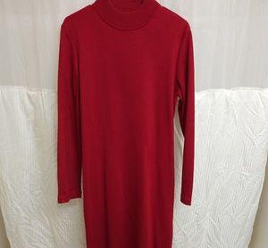 80s Vintage 2 piece red sweater dress